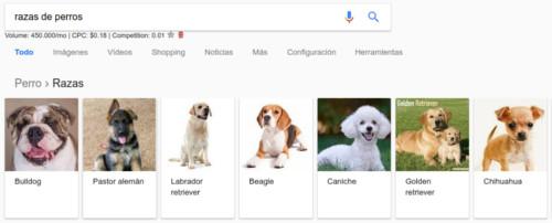 Pantallazo de razas de perros