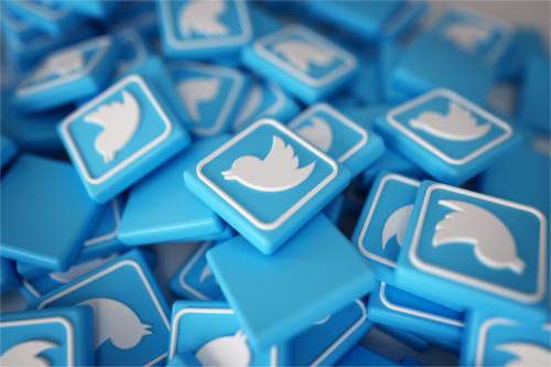 Iconos de Twitter azules