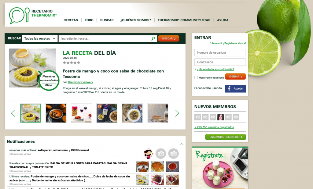 Content Marketing de Thermomix