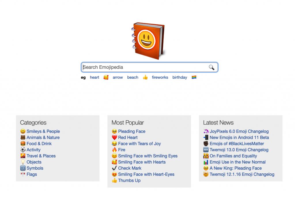 En emojipedia podrás encontrar todos los emojis para tu SEO