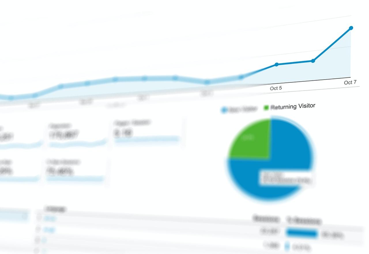 gráfica de analytics creciendo