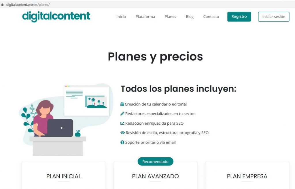 landign page de Digitalcontent.pro