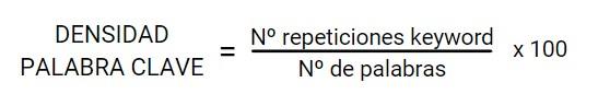 formula de densidad de keyword