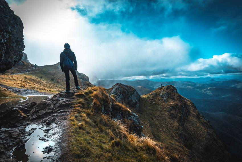 Calcetines calefactables para la montaña